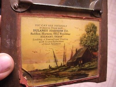 Dulaney Harness Co. Saddles, Harness, Shoe Repairing Dalhart, Texas Adv. Mirror!