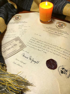 Personalised Harry Potter Acceptance Letter