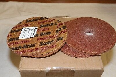 "(4) 3M Scotch Brite Ceramic Heavy Deburring Unitized Wheel Course+ 4"" x1/4""x5/8"""