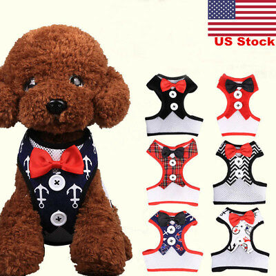 US Handsome Formal Dog Jumpsuit with Bow Tie Groom Tuxedo Pet Costumes Clothing
