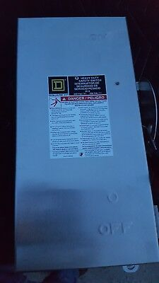 NEW SQUARE D H321DS SAFETY SWITCH 30A 240VAC FUSIBLE TYPE 4x stainless steel