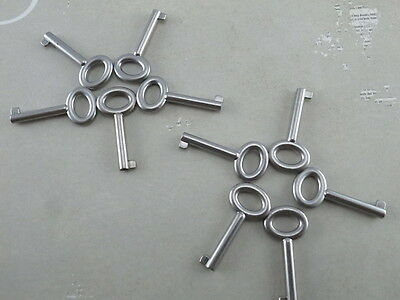 Old Vintage Style  Open Barrel Keys Antique Silver Color - 18 PCS - New