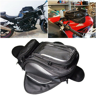 Waterproof Magnetic Motorcycle Motorbike Oil Fuel Tank Bag Saddlebag Universal