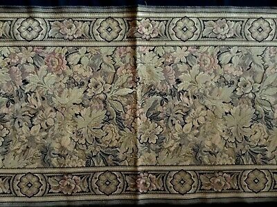 "GORGEOUS ANTIQUE EDWARDIAN ART DECO BROCADE TAPESTRY TABLE RUNNER 19"" x 64"""