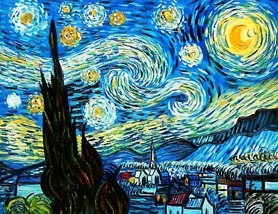 Vincent Van Gogh - Starry Night 30x40 cm Reproduction Oil Painting 59507