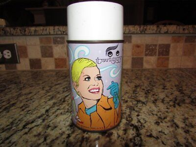 Vintage Good Rare Complete 1967 Twiggy Vinyl Lunchbox Thermos
