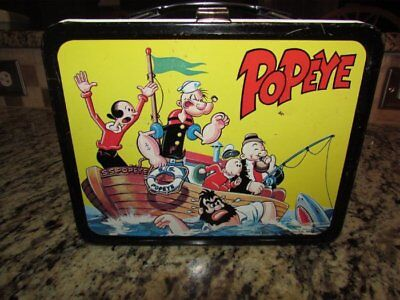 Vintage Rare Good 1964 Popeye Metal King Seeley Metal Lunchbox