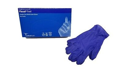 Cardinal Health Flexal Feel Powder-Free Nitrile Exam Gloves Box of 100 Large.