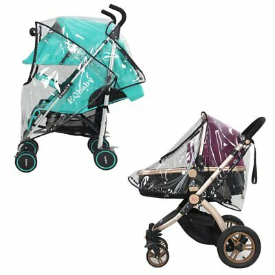 Infant Baby Stroller Pram Rain Wind Weather Pushchair Cover Shield Protector