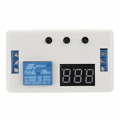 KKmoon 12V LED Automation Delay Timer Switch Adjustable Relay Module with Case