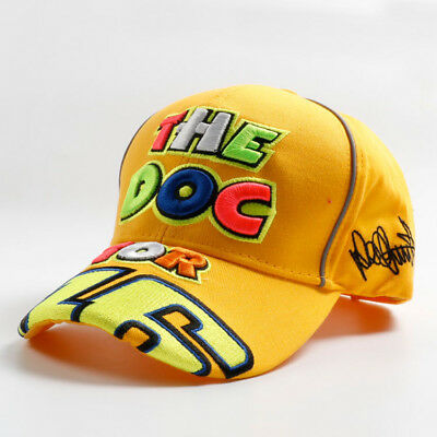 1 Pc New 2017 Yellow Moto GP Baseball Cap Hat 3D Embroidered Snapback