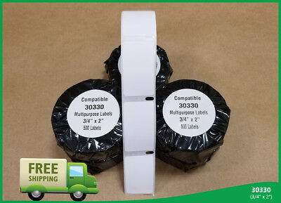 100 Address White 30330 Badges Dymo Compatible Labelwriters® 500 Labels per Roll