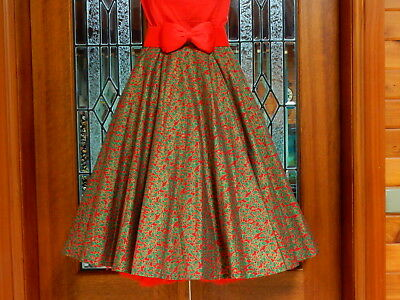 Chic Vintage 50's Rockabilly Style Christmas Full Circle Dress SKIRT Size 2XL 16