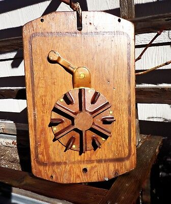 Vintage Industrial Wooden Factory or Foundry Mold - Decorative! Large!  Heavy!