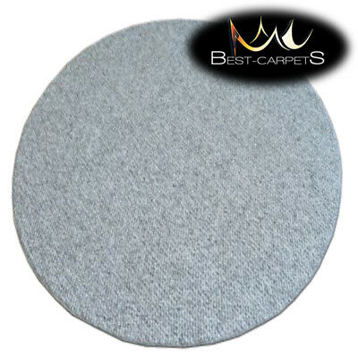 CHEAP & QUALITY CARPETS Round Feltback CASABLANCA grey Bedroom RUG ANY SIZE