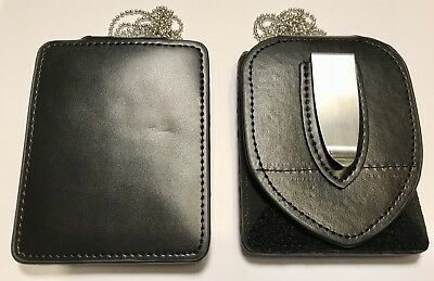 Leather Belt Badge Holder, Neck Chain, Police / Security, NSW Police Holder, ID