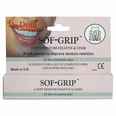 Dr Denti Soft Grip Denture Fixative & Liner 5ml