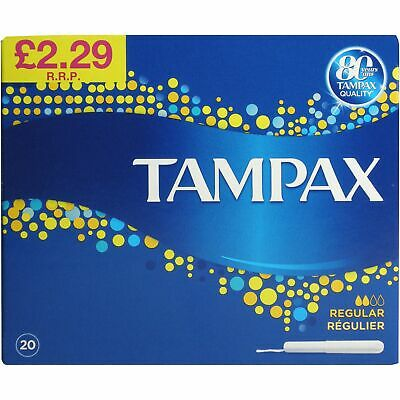 Tampax Cardboard Regular Applicator 20 Pack