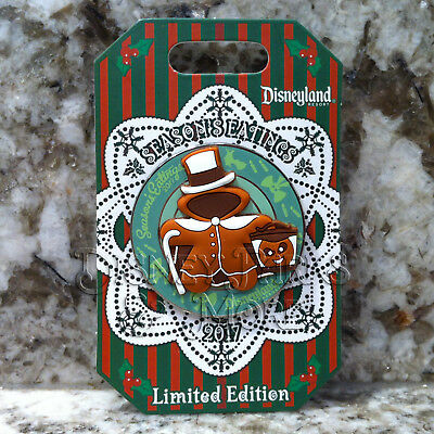 Disneyland Season's Eatings 2017 Haunted Mansion Hatbox Ghost Gingerbread Pin