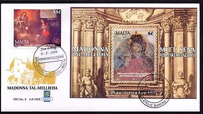 Malta 1999 Mellieha Sanctuary First Day Cover FDC SG 1132  & MS Not Addressed