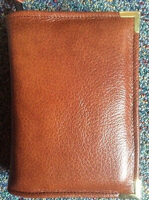 Genuine Chestnut leather  bible cover for pocket NWT (nwtpkt-E)