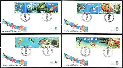 Malta 1999 Marine Life First Day Cover FDC SG 1112 - 1127  Not Addressed