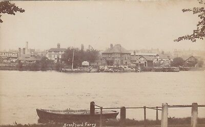 London Real Photo Postcard. Brentford Ferry, Ferry Lane. Hounslow.  Rare!  c1905