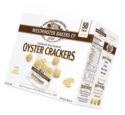 Westminster Bakers Company Premium Restaurant Oyster Crackers, 25 Ounce (50 Coun