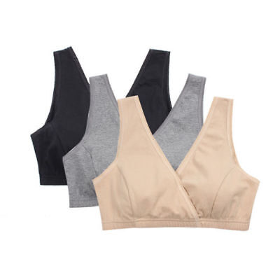 Lot2/3Pcs Maternity Nursing Sleep Bra Cotton Tank For Breastfeeding or Pregnancy