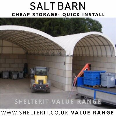 Salt Barn - Dry Bay Store - Container Canopy - Concrete Block Roof -Self install