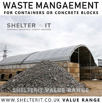 Recycling Waste Management Bay - Storage Bay for Product - Concrete Block Roof