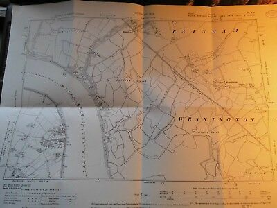Rainham Ferry,erith Factories:thameside Essex Kent-Planner Map With Record Stamp