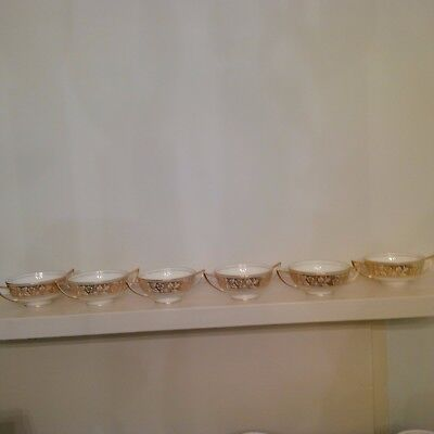 Minton China - Gold Harmony - soup bowls (6) perfect!