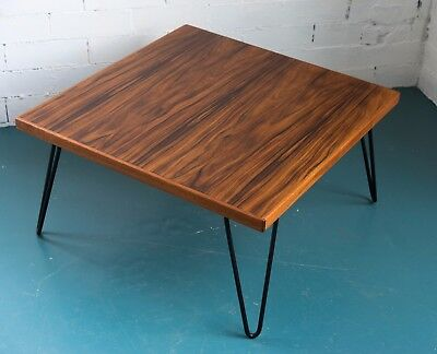 Mid Century Modern Rosewood Coffee Table / Side Table * Vintage Danish Hairpin *