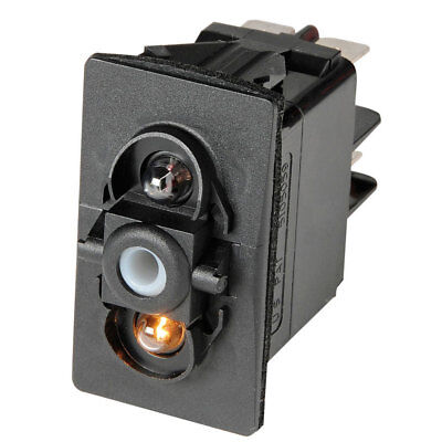 Interrupteur à bascule ON-OFF-ON LED rouge - 12V