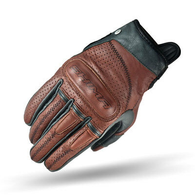 SHIMA CALIBER BROWN, Heritage Retro Vintage Classic Summer Motorcycle Gloves