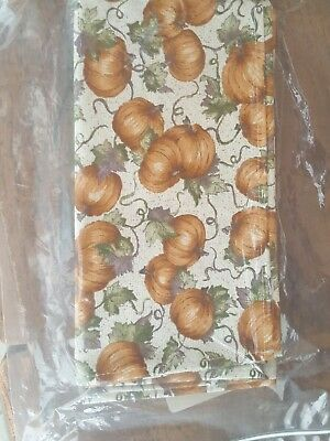 Longaberger Fabric Napkins (set of 2) - Pumpkin Patch - New in Package