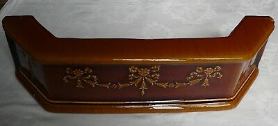 Vintage Brown Fire Fireplace Fender Ceramic Hearth Kerb Curb Edge