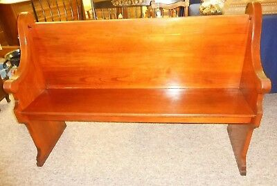 Antique Oak CHURCH  PEW 57'' wide 100+ year OLD