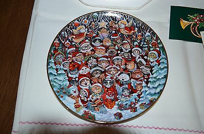 "Franklin Mint Cat Plate ""santa Claws"" By Bill Bell"