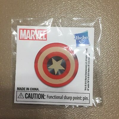 """Small 1"""" Marvel Captain America Shield Pin (San Diego Comic Con Giveaway)"""