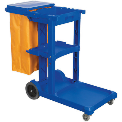 Sealey Janitorial Trolley Blue