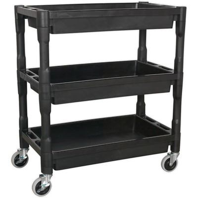 Sealey 3 Level Heavy Duty CompositeTrolley Black