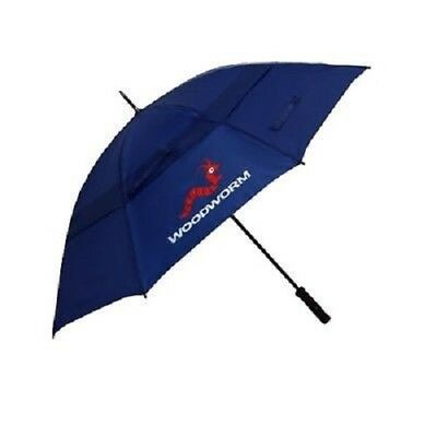 "New Woodworm Windproof 60"" Double Canopy Golf Umbrella - Blue"