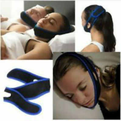 New Anti Snoring Chin Strap Belt Stop Snore Device Apnea Jaw Support  Solution