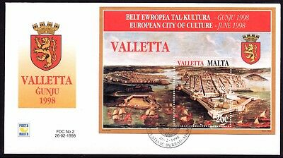 Malta 1998 Treasures First Day Cover FDC SG MS1070 Not Addressed