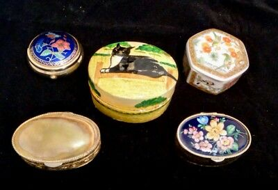 Collection of Pill / Trinket Boxes