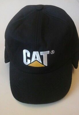 "Caterpillar ""cat"" Winter Hat W/ Lined Ear Flaps - New -"