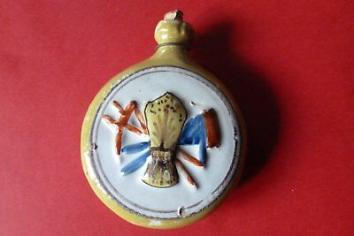 Ancienne Secouette Quimper  Tabatiere Snuff Bottle ( Henriot ? )