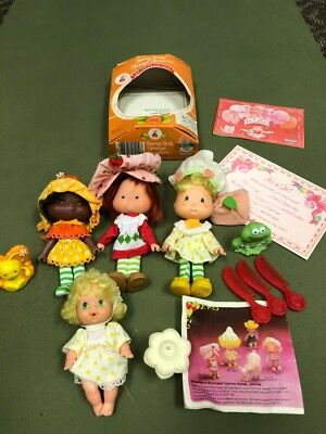 Strawberry Shortcake Dolls- Vintage Lot of Dolls and Accessories